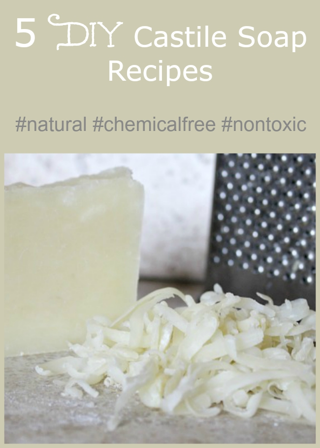 No need to use harsh chemicals when cleaning your home. Try these 5 DIY Castile soap recipes! #naturalliving
