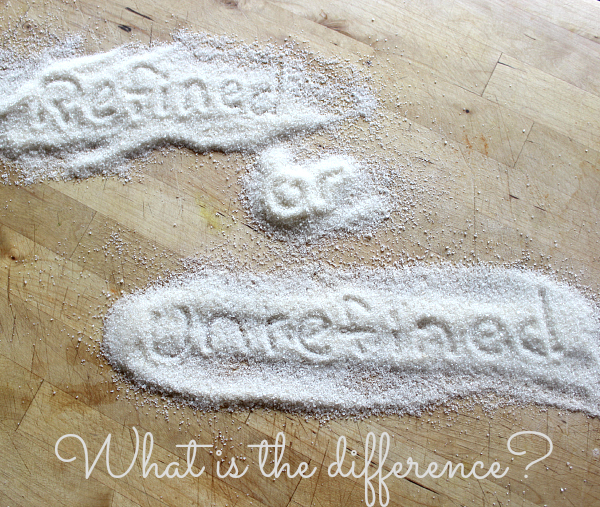 Refined vs. Unrefined sugar PT