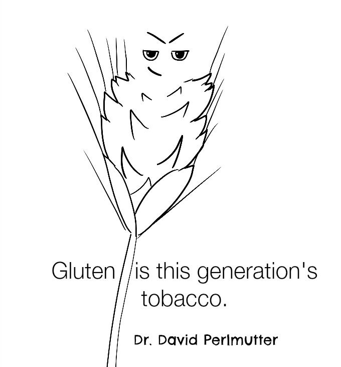 Gluten quote from Dr. David Perlmutter