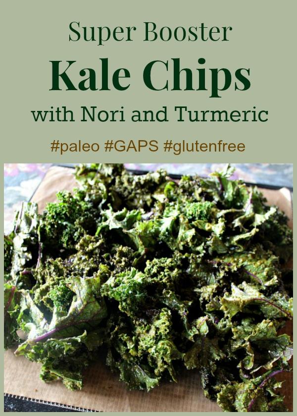 Super Booster Kale Chips #GAPS #Paleo #Glutenfree
