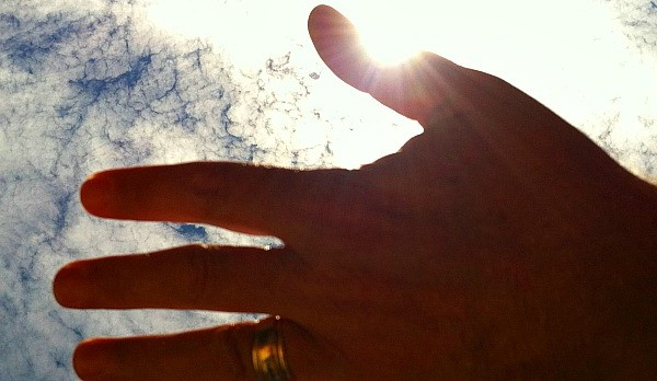 hand and sky for feature