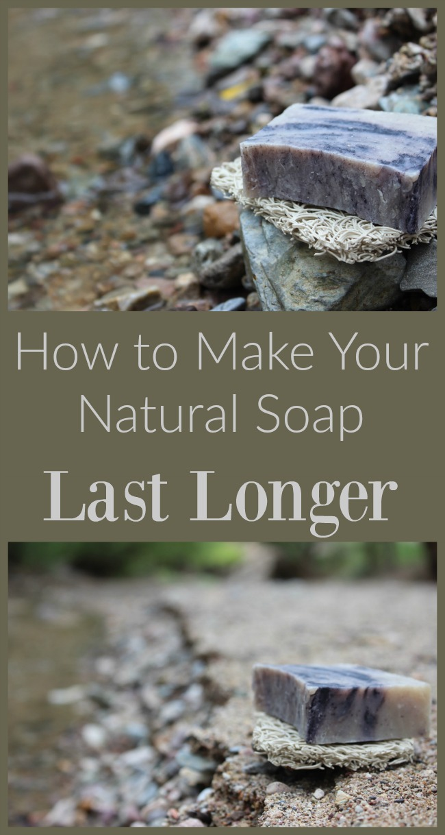 Naturally-derived soap is more expensive than harsh synthetic soap. Make the most of your investment by making it last longer!