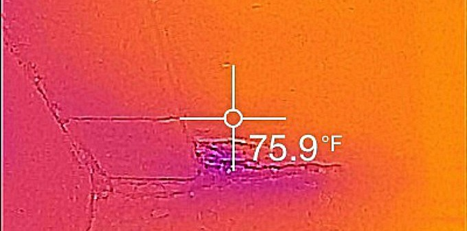 Water Damage in BR Thermal Image