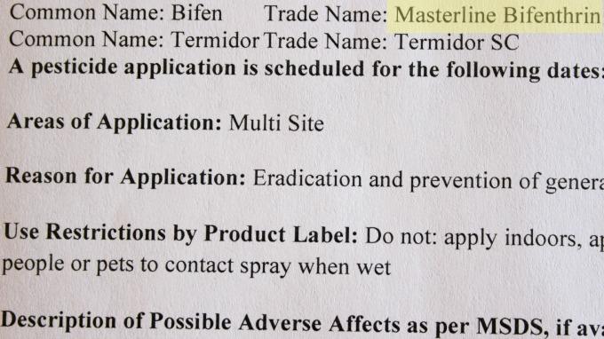 Pesticides - Notice