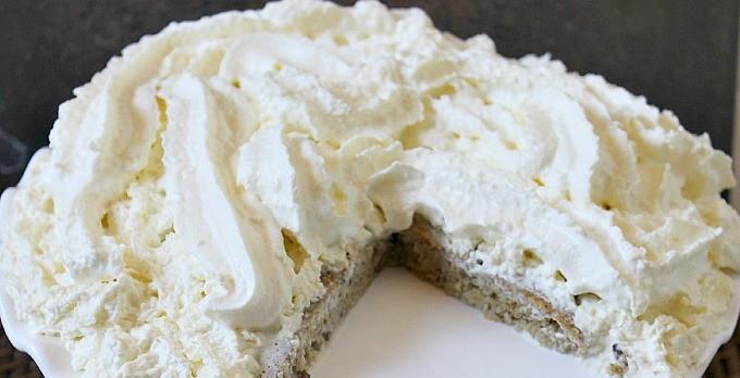 Gluten-free Almond Flour Cream Cake