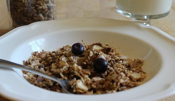 Grain-free granola with raw milk