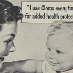 Clorox bleach advertisement from 1954