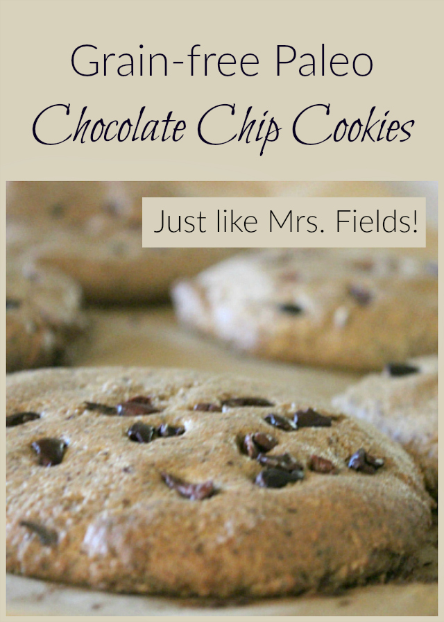Looking for healthier alternative to Mrs. Fields Try this gluten-free, grain-free cookie!