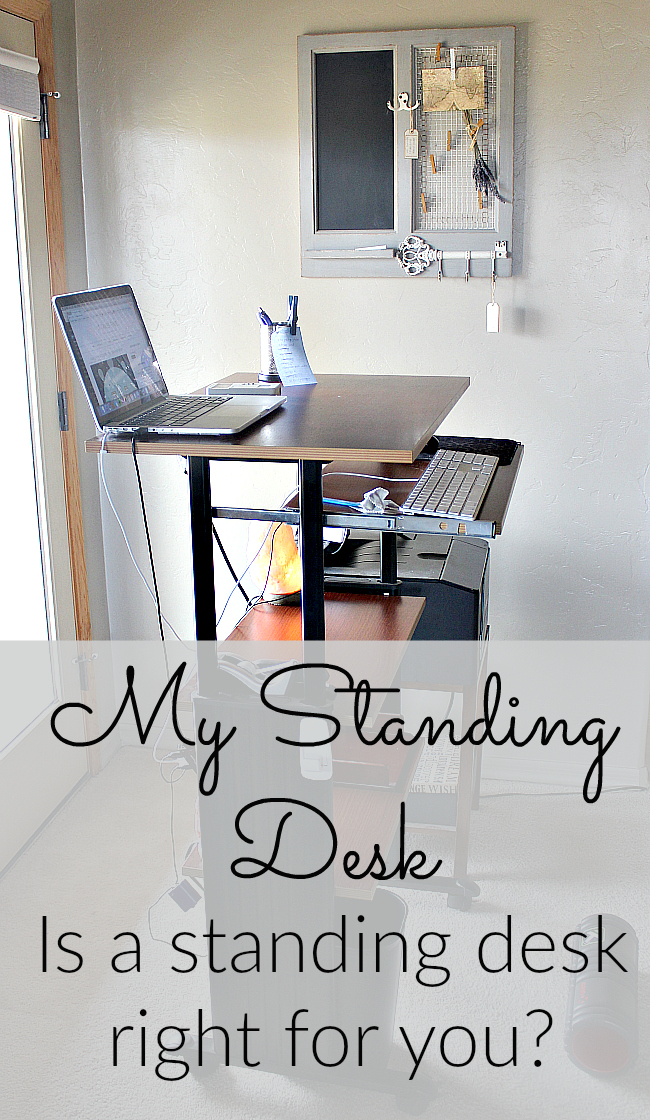 Have you considered a standing desk? Wondering what to look for in a standing desk? What are the health benefits of standing while you work?  I've had my standing desk for more than a year and I'll never go back. Find out why!