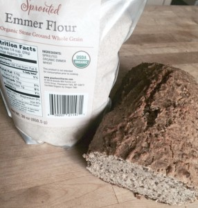 Sprouted emmer sourdough bread