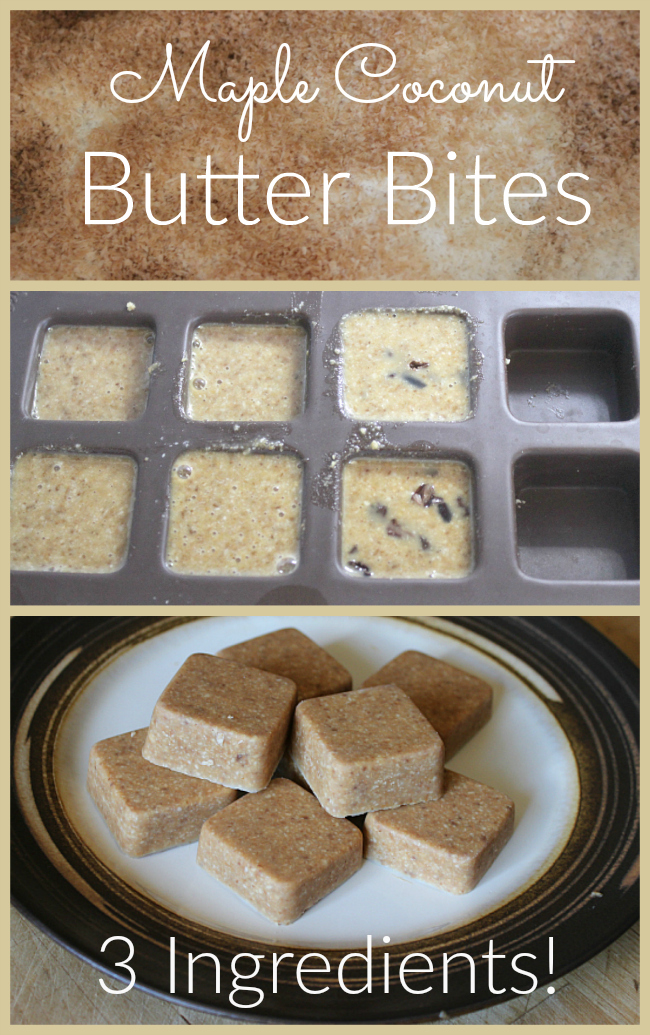 Toasted coconut combines with butter and maple flavoring to make these delicious butter bites! Paleo and GAPS friendly!