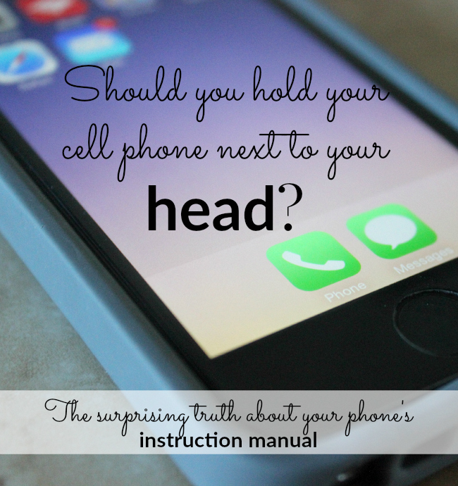 Should you carry your phone in your pocket How about holding it next to your ear Find out what your instruction manual says!