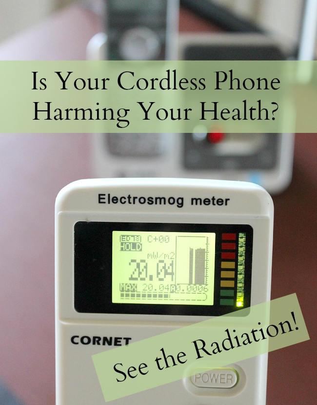 Why is the old-fashioned corded phone a better choice for your health Find out how to measure the radio frequencies emitted from your DECT phone! #emf