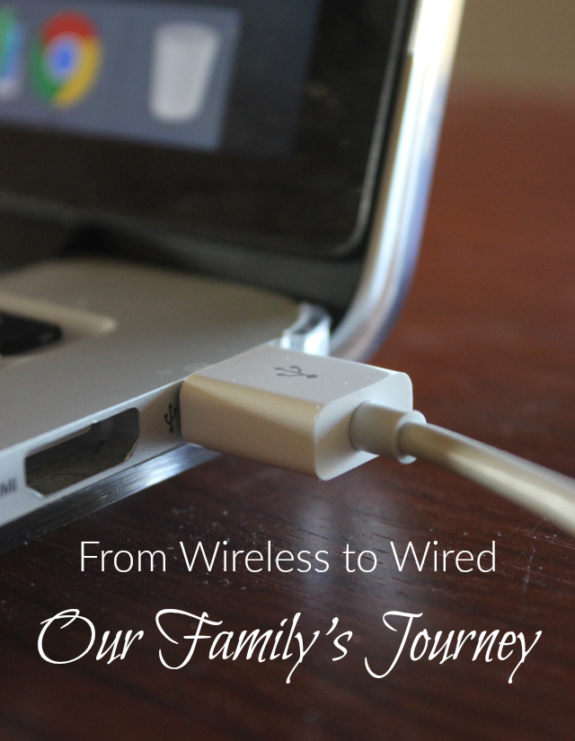Our family no longer uses Wi-Fi in the home. Find out how and why we made the change!