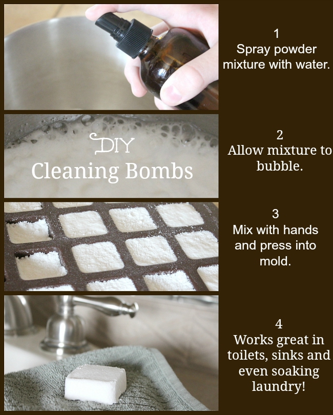 DIY Cleaning Bombs 4 steps