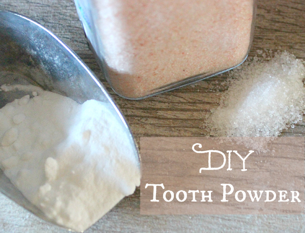 DIY Tooth Powder with baking soda, xylitol and sea salt PT