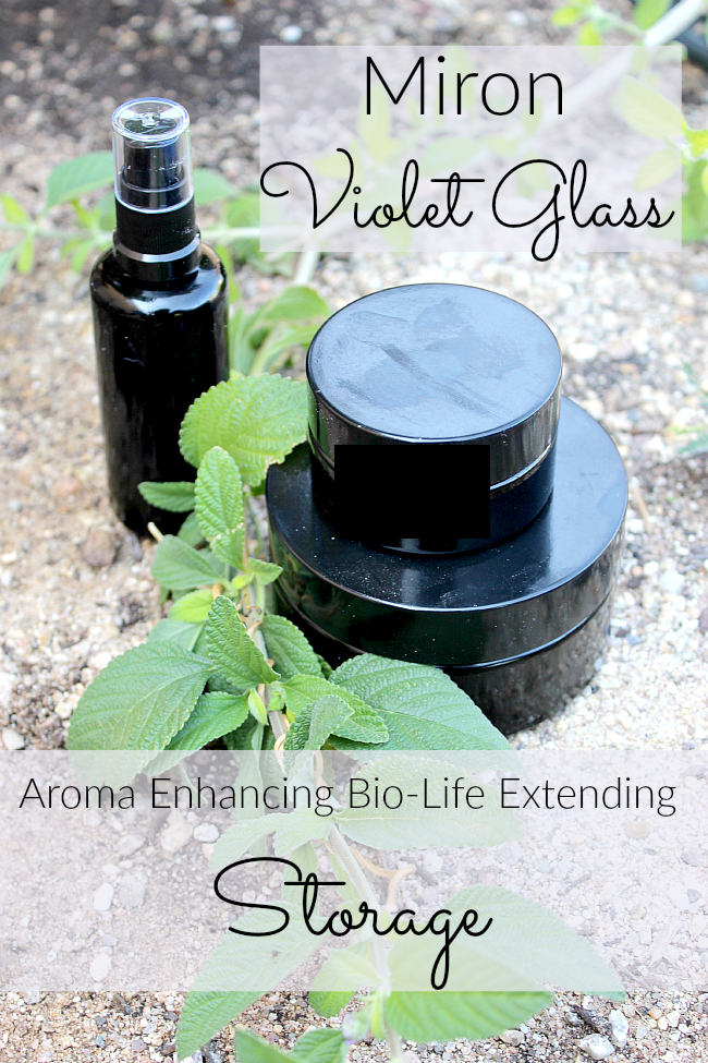 Miron violet glass has been used for centuries to preserve natural substances. Find out more about this bio-life enhancing storage!