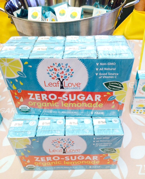 Leaf and Love's zero sugar organic lemonade juice box