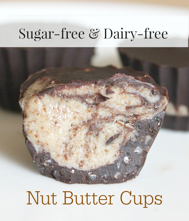 Skip the refined sugar and artificial ingredients and try these natural nut butter cups! With nut-free option. GAPS friendly, Paleo friendly.