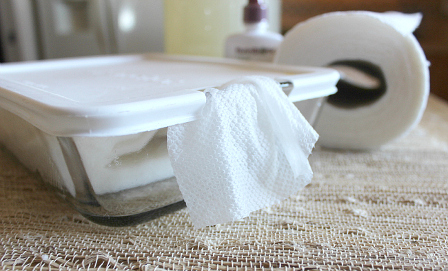 DIY Antibacterial or Baby Wipes