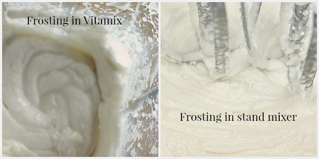 Frosting in blender and mixer