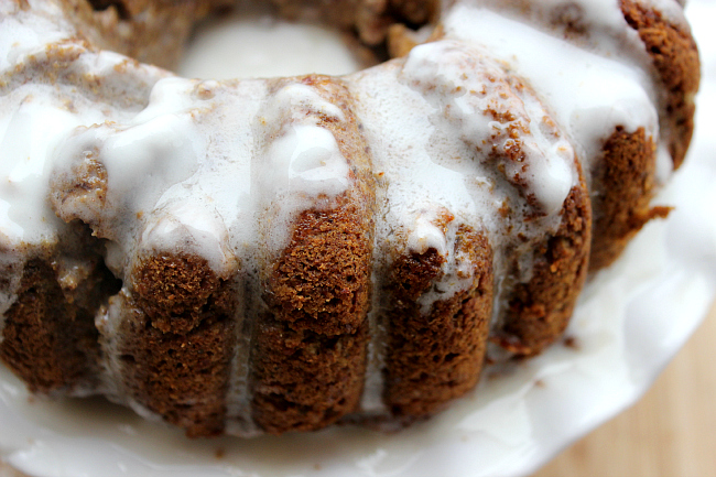 Pumpkin Paleo Bundt Cake with Icing