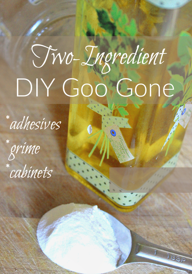 This DIY Goo Gone is 100 natural and chemical-free. Chances are you have these ingredients on hand!
