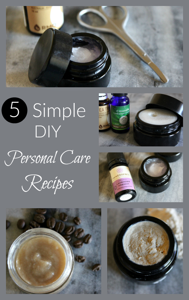 Looking to minimize your exposure to chemicals in personal care products? These five recipes are perfect for beginners - simple and safe!