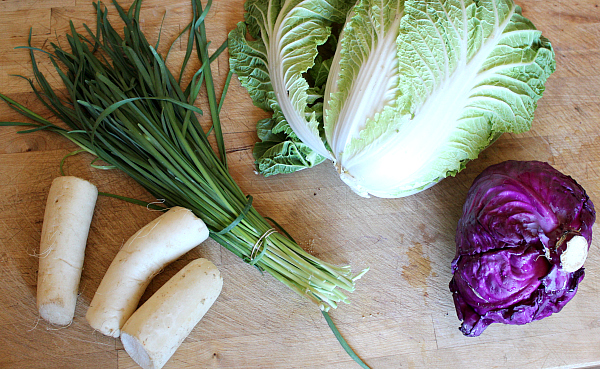 Kimchi vegetable ingredients