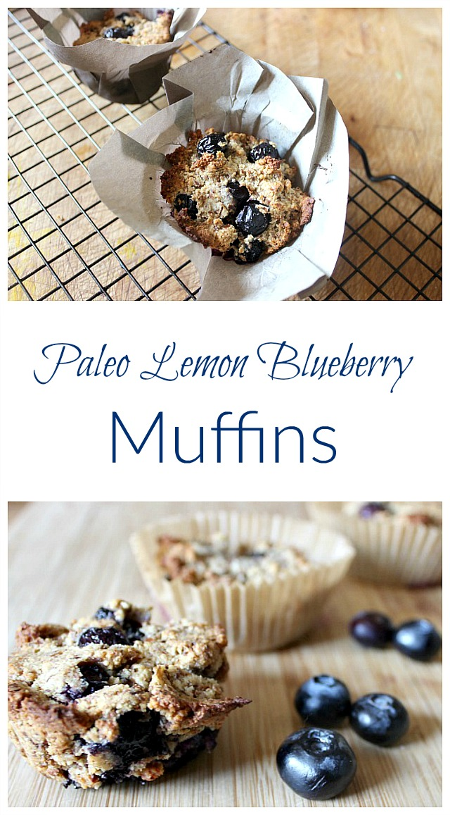 Enjoy these grain-free blueberry muffins fresh from the oven!