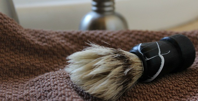 Natural Shaving Soap and Shaving Brush