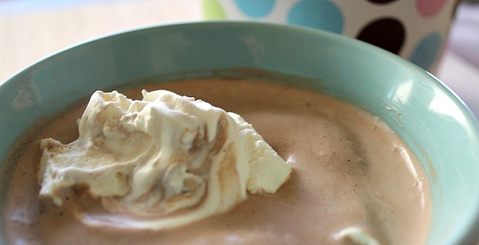 Homemade Chocolate Malt Ice Cream