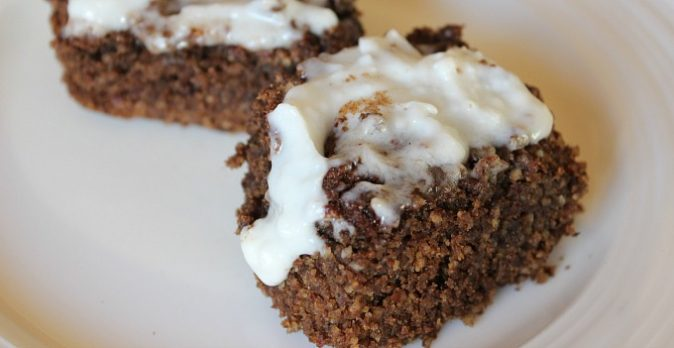 Paleo Coffee Cake with Coffee Flour